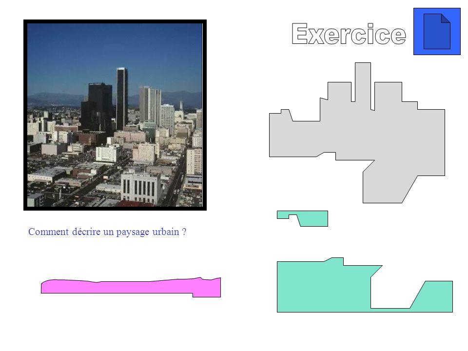 Exercice Comment décrire un paysage urbain