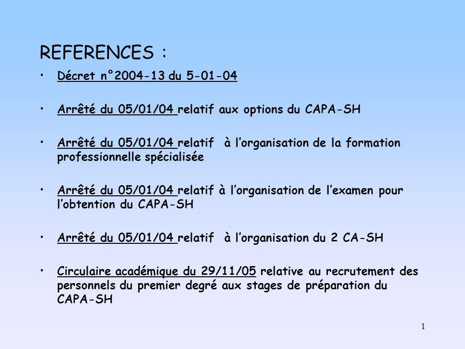 REFERENCES : Décret n°2004-13 du 5-01-04