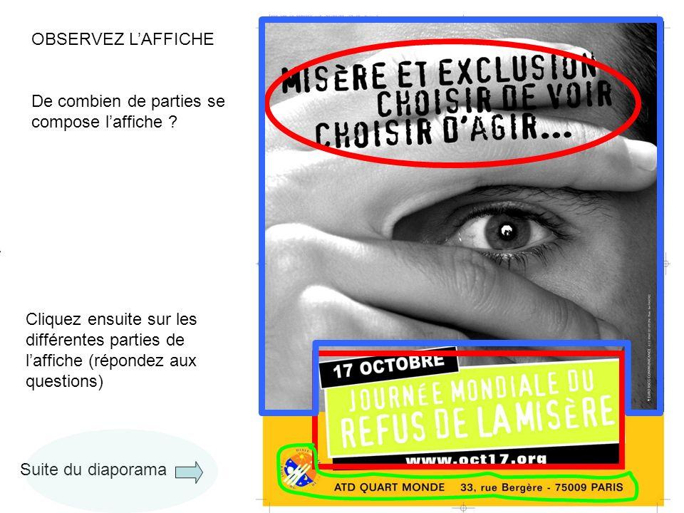 4 OBSERVEZ L'AFFICHE De combien de parties se compose l'affiche