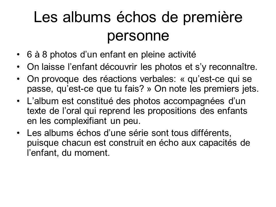 Les albums échos de première personne