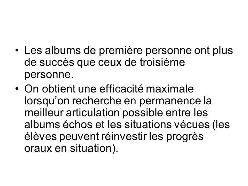 Les albums de première personne ont plus de succès que ceux de troisième personne.