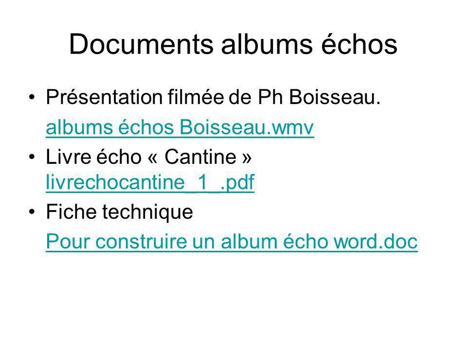 Documents albums échos