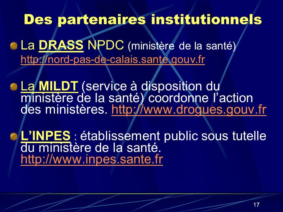 Des partenaires institutionnels