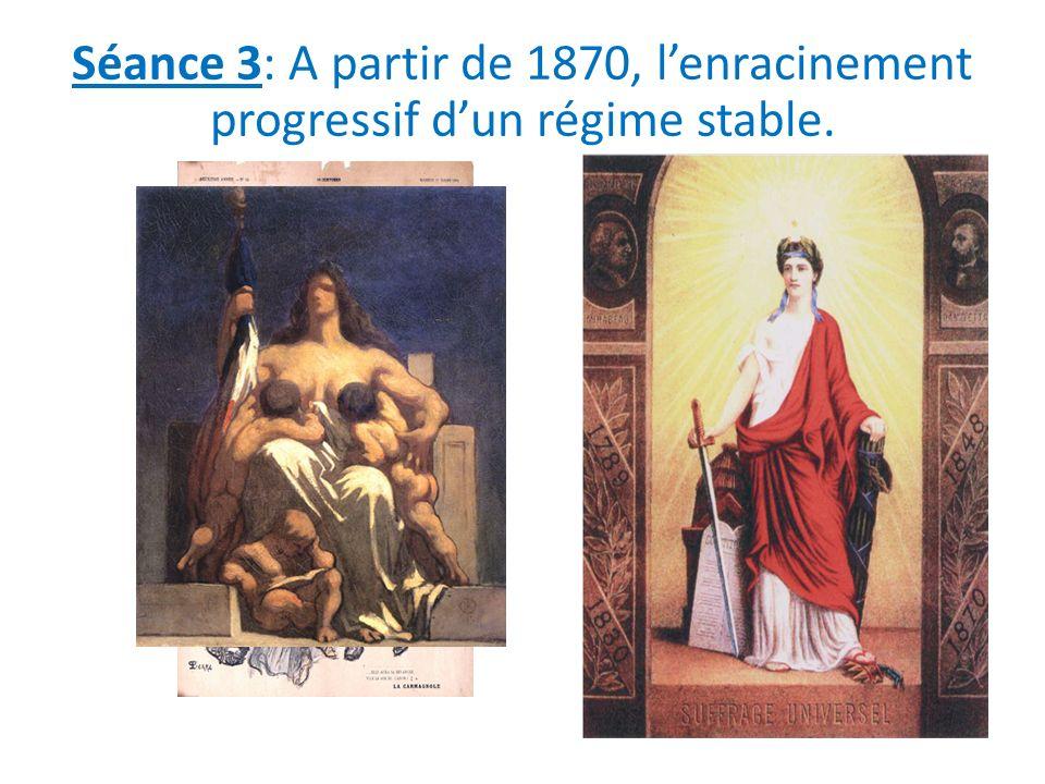Séance 3: A partir de 1870, l'enracinement progressif d'un régime stable.