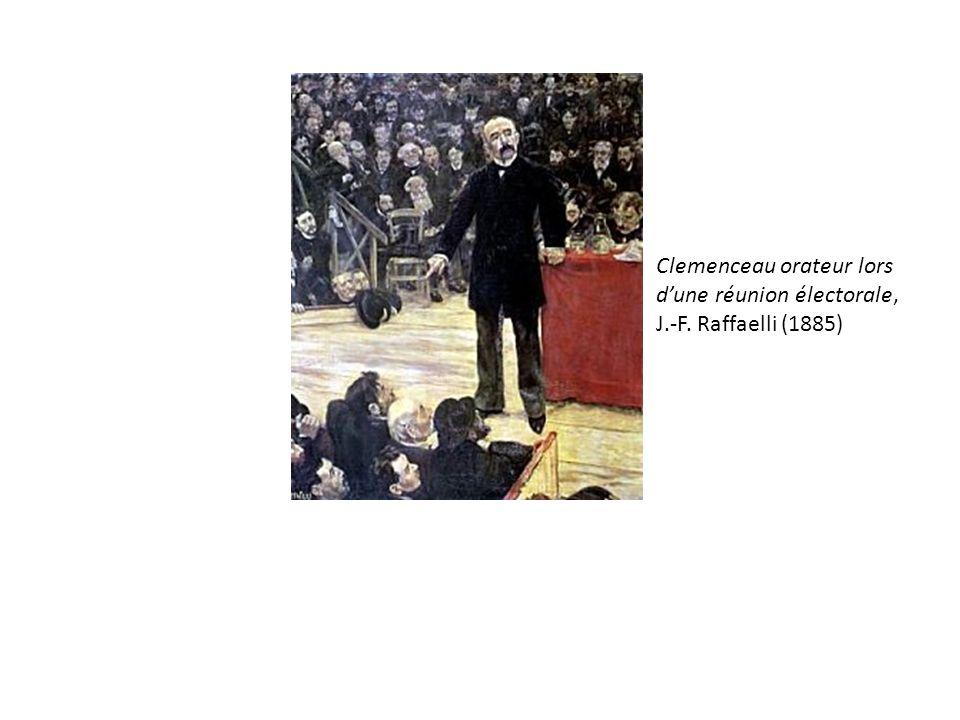 Clemenceau orateur lors