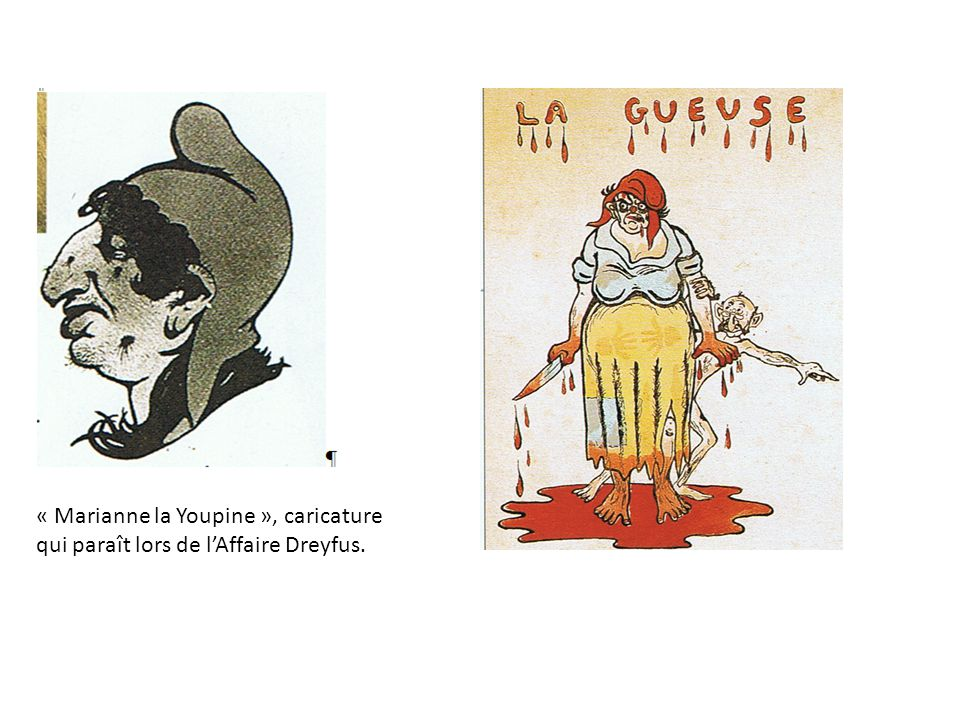 « Marianne la Youpine », caricature