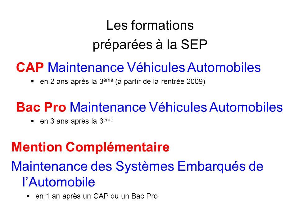 CAP Maintenance Véhicules Automobiles