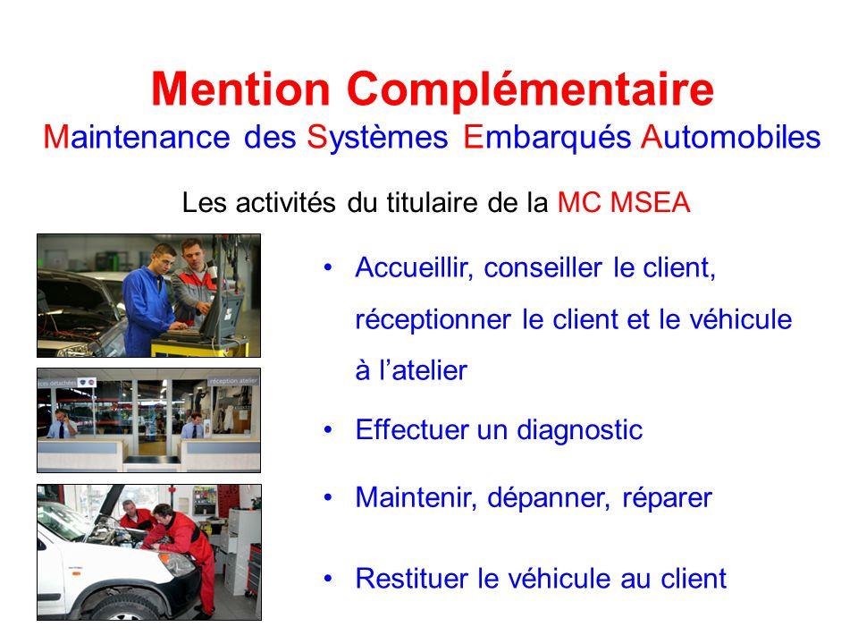 Mention Complémentaire Maintenance des Systèmes Embarqués Automobiles