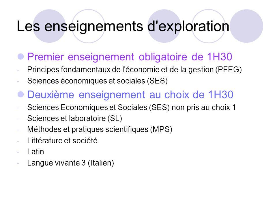 Les enseignements d exploration