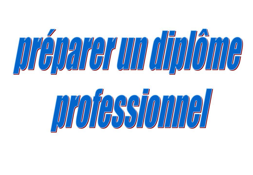 préparer un diplôme professionnel