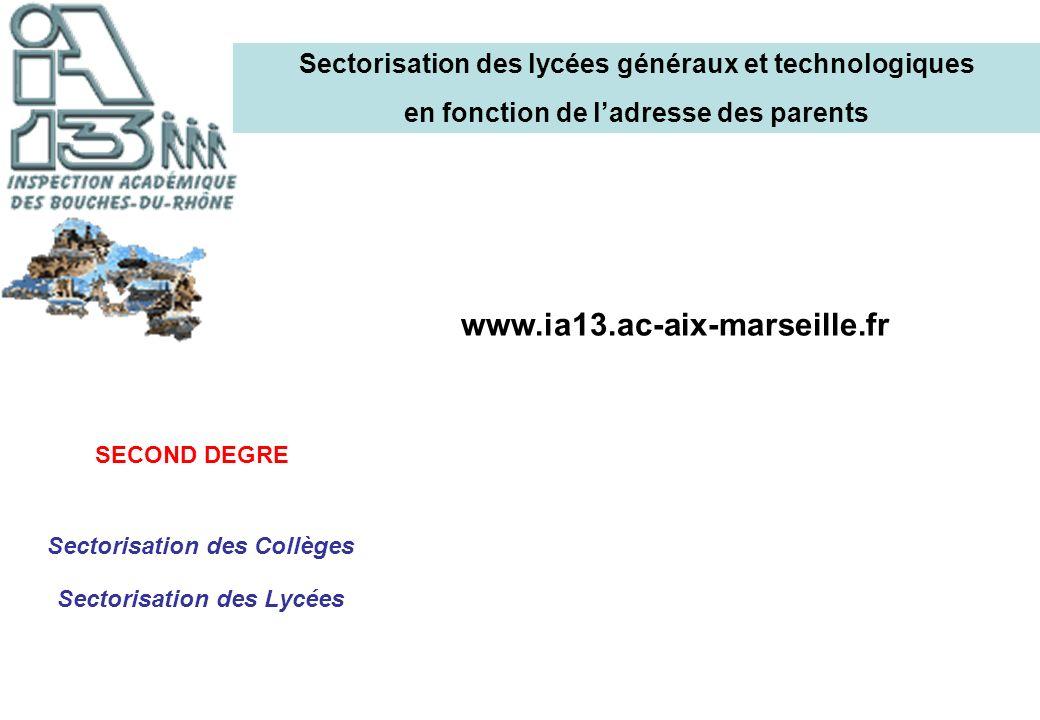 Sectorisation des lycées généraux et technologiques
