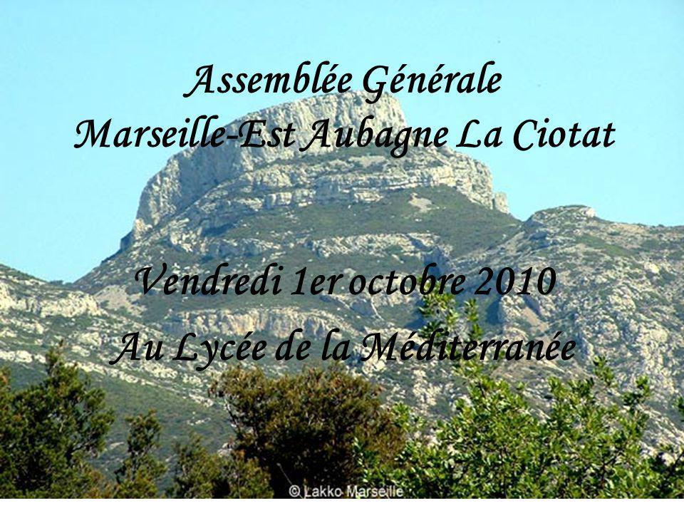 Assemblée Générale Marseille-Est Aubagne La Ciotat