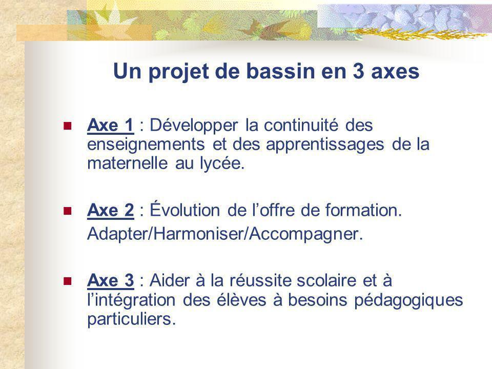 Un projet de bassin en 3 axes