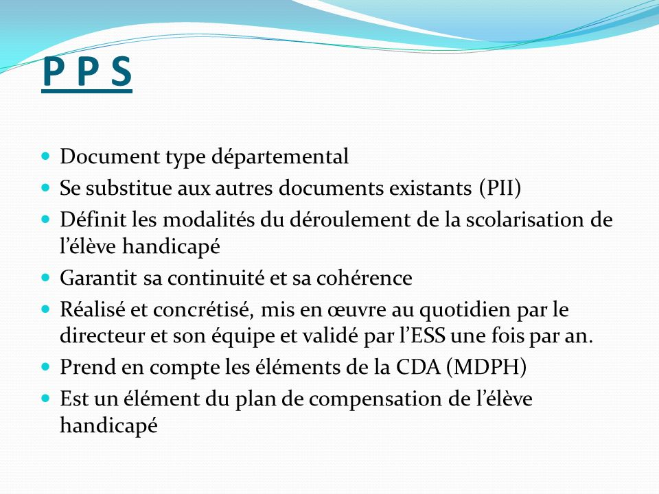 P P S Document type départemental