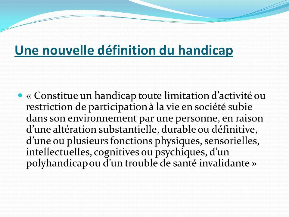 Une nouvelle définition du handicap