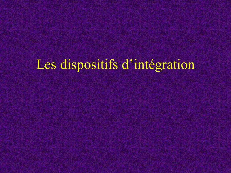 Les dispositifs d'intégration