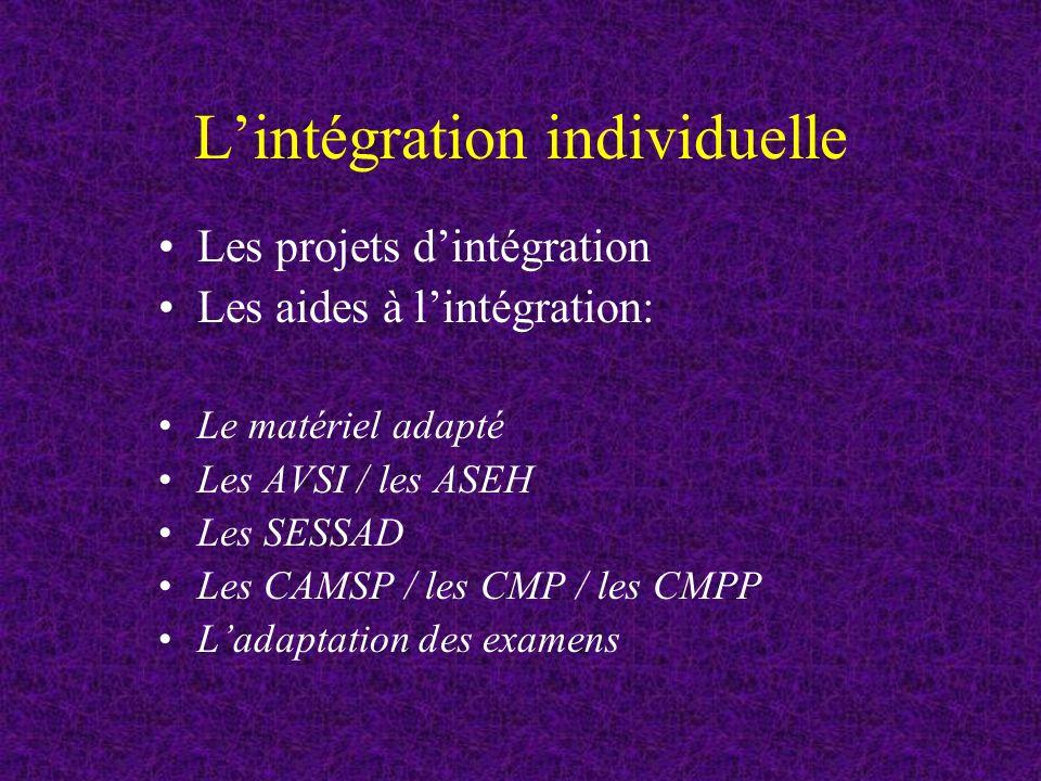 L'intégration individuelle