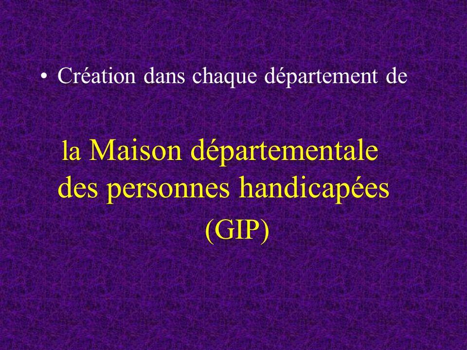 la Maison départementale des personnes handicapées (GIP)