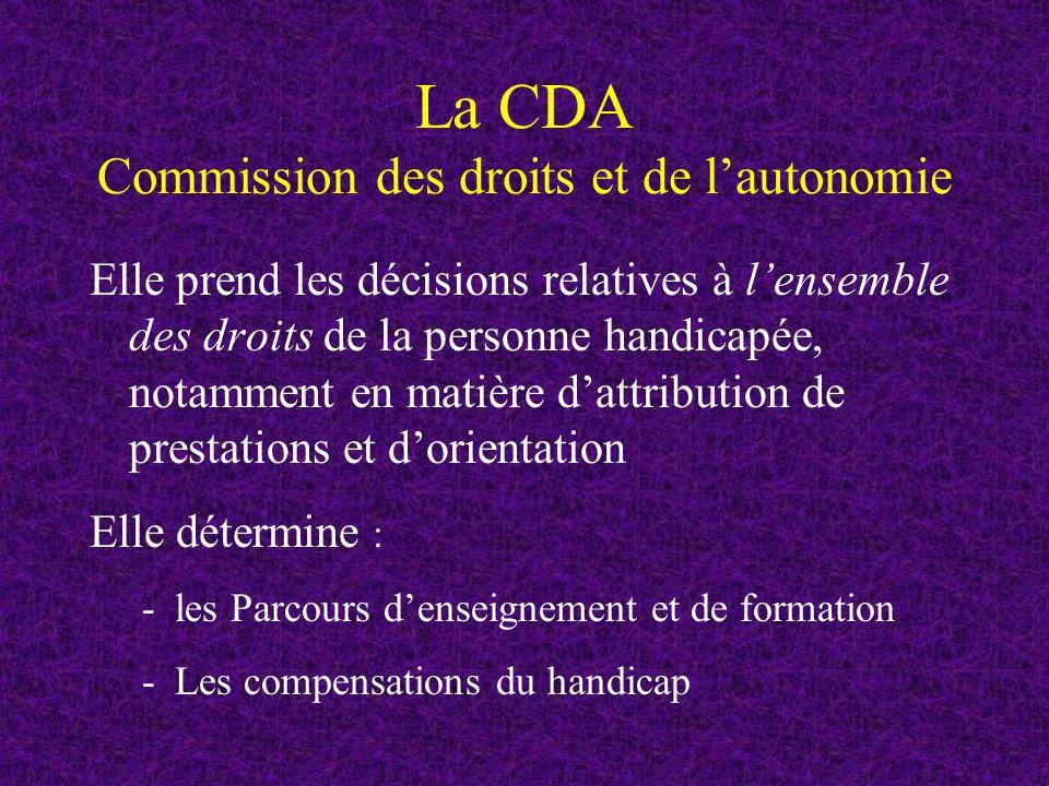 La CDA Commission des droits et de l'autonomie