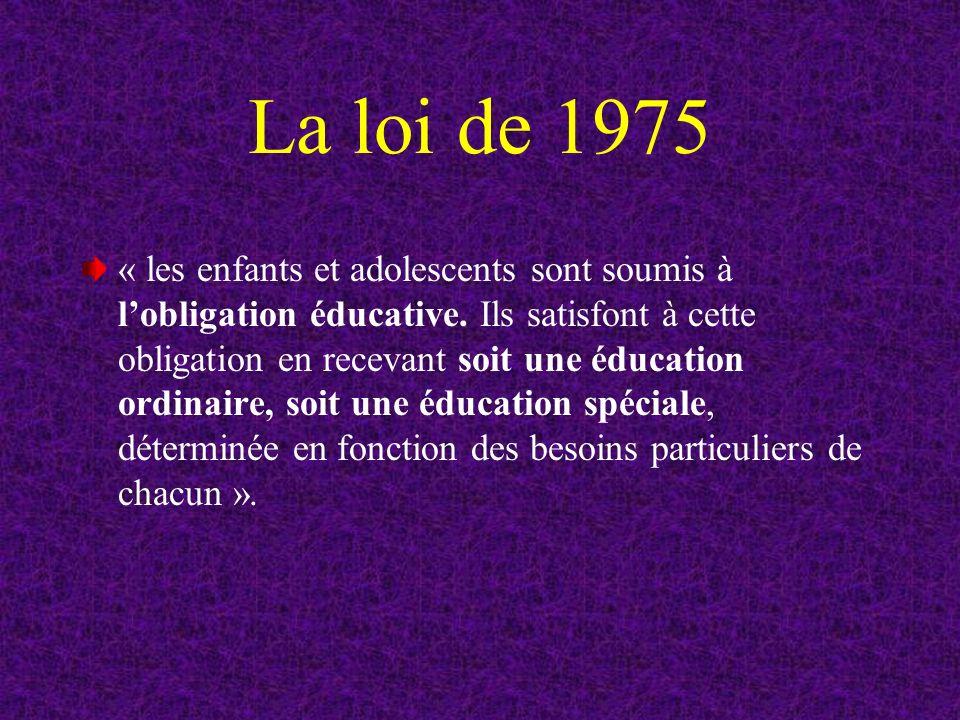 La loi de 1975