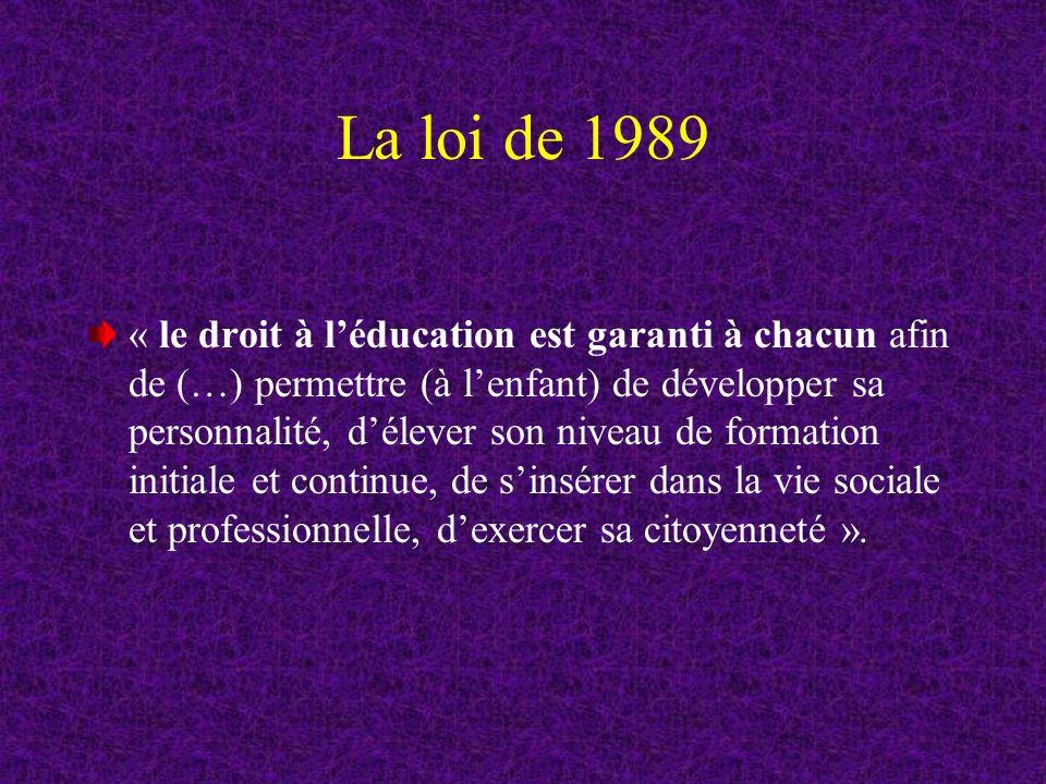 La loi de 1989