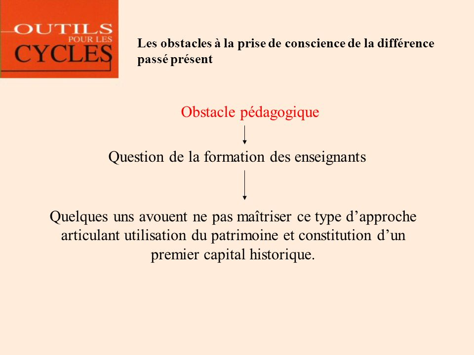 Question de la formation des enseignants