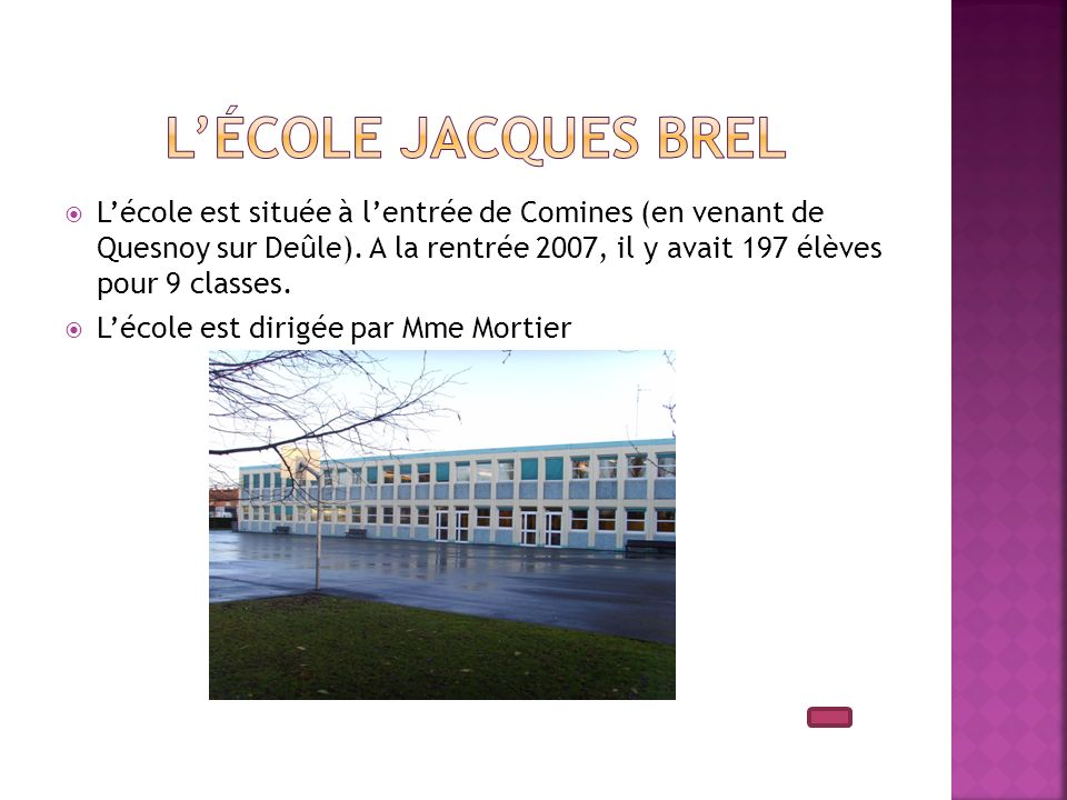 L'école Jacques Brel