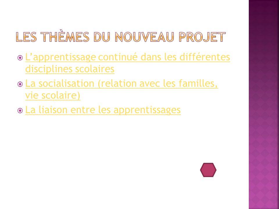 Les thèmes du nouveau projet