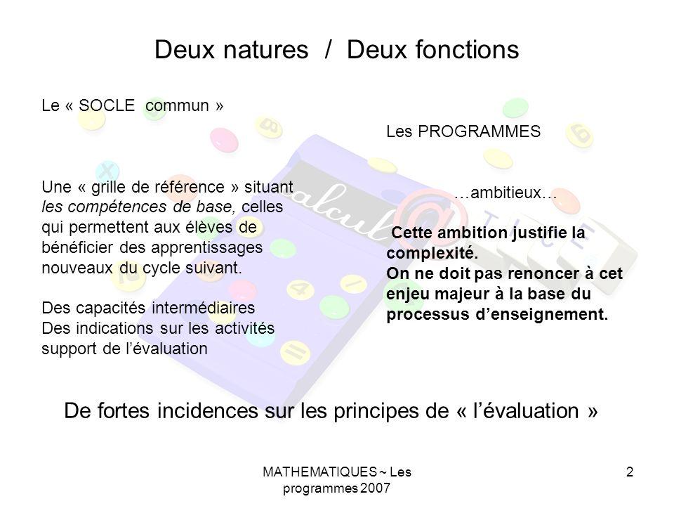 Deux natures / Deux fonctions