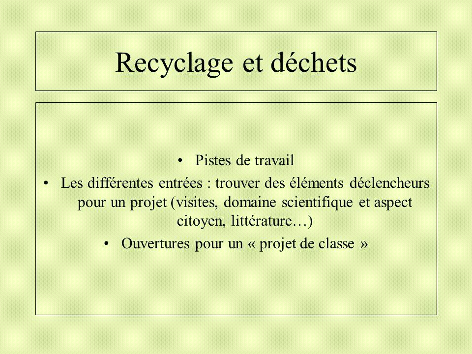 Ouvertures pour un « projet de classe »