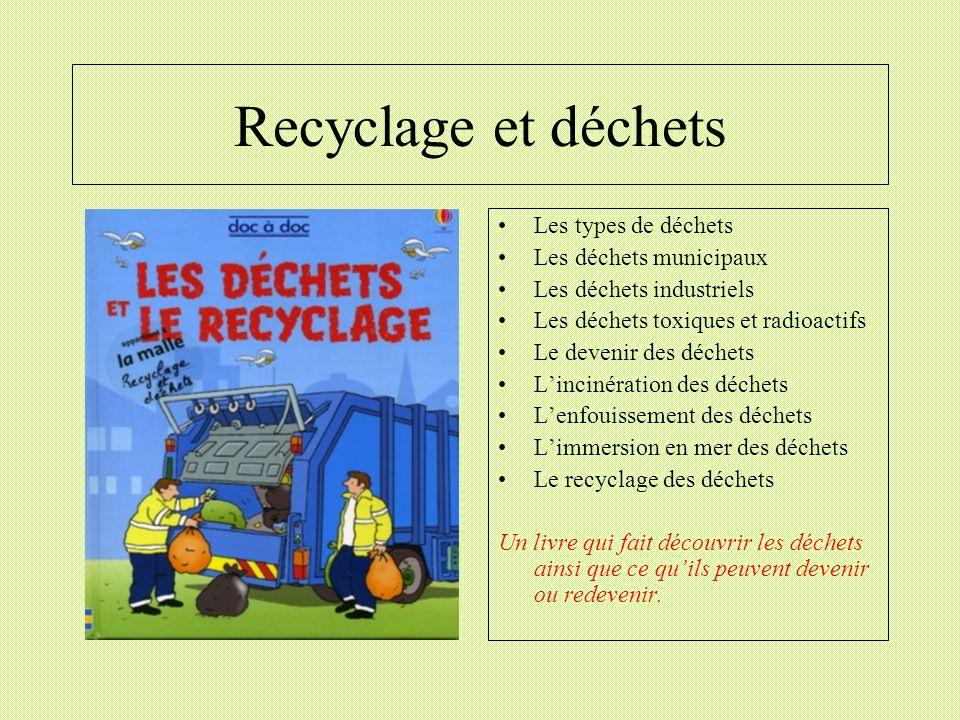 Recyclage et déchets Les types de déchets Les déchets municipaux
