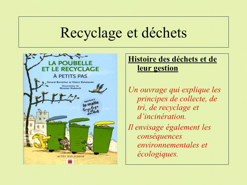 Recyclage et déchets Histoire des déchets et de leur gestion