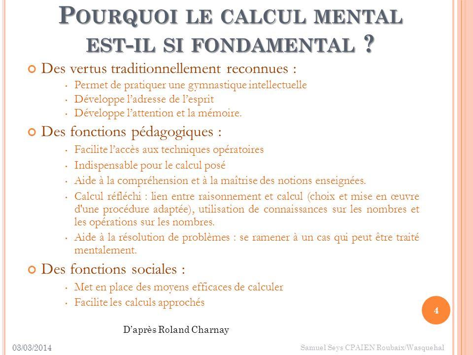 Pourquoi le calcul mental est-il si fondamental
