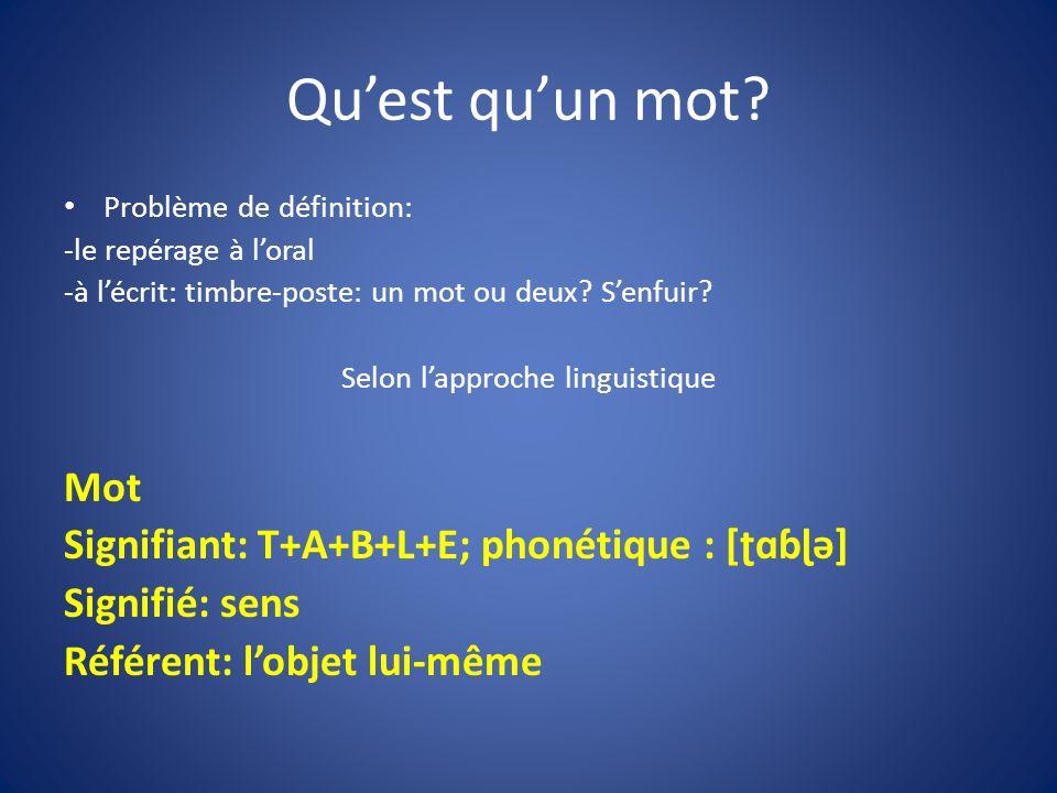 Selon l'approche linguistique