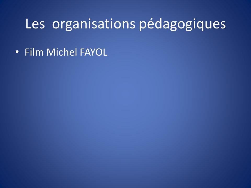 Les organisations pédagogiques