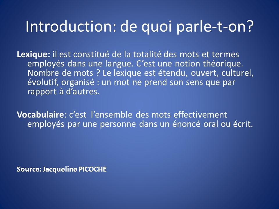 Introduction: de quoi parle-t-on