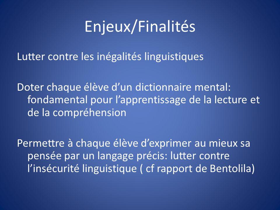 Enjeux/Finalités