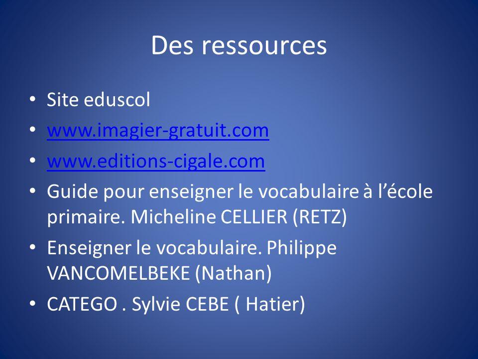 Des ressources Site eduscol www.imagier-gratuit.com