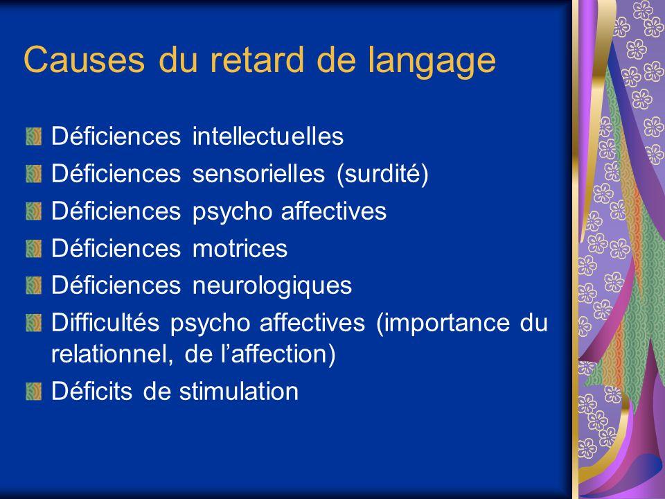 Causes du retard de langage