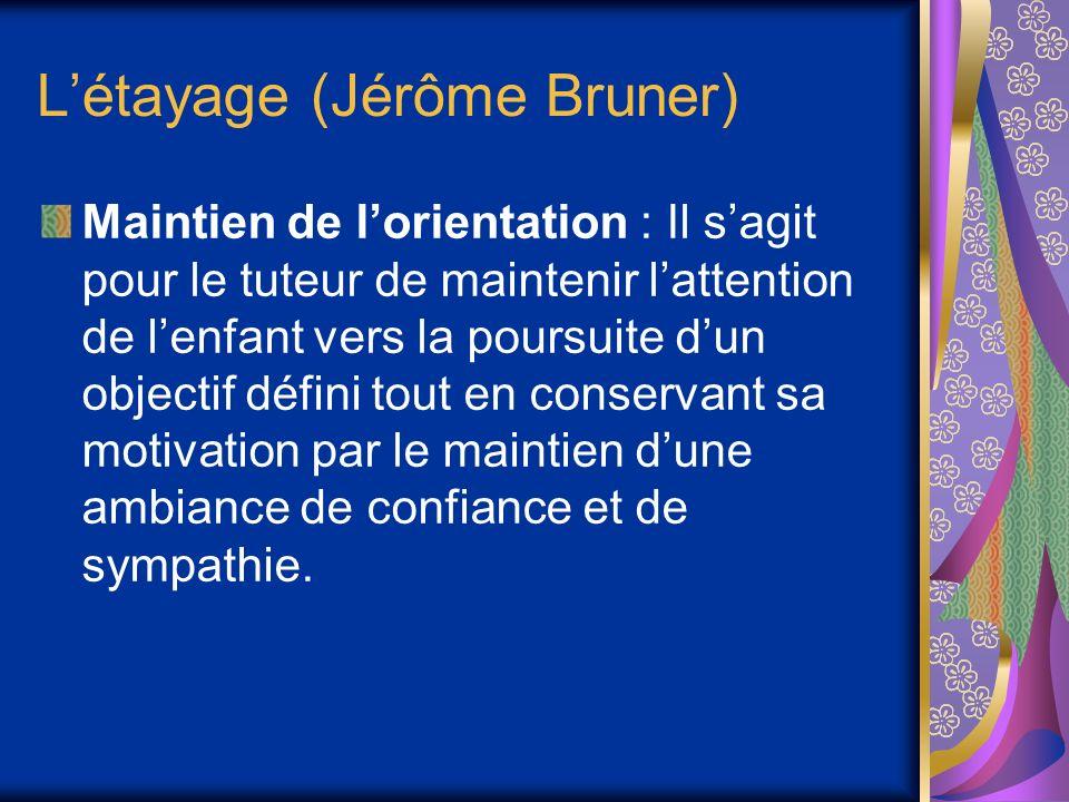 L'étayage (Jérôme Bruner)