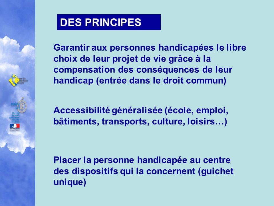 DES PRINCIPES