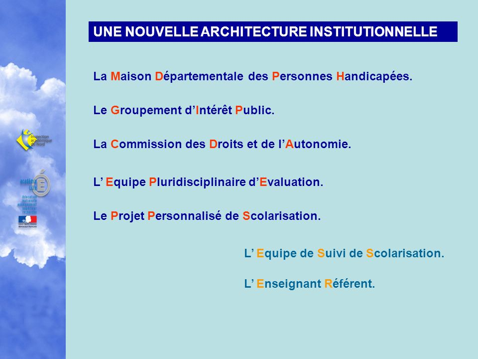 UNE NOUVELLE ARCHITECTURE INSTITUTIONNELLE