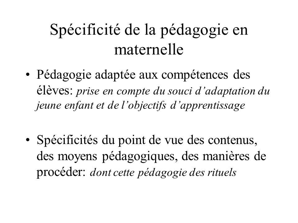Spécificité de la pédagogie en maternelle
