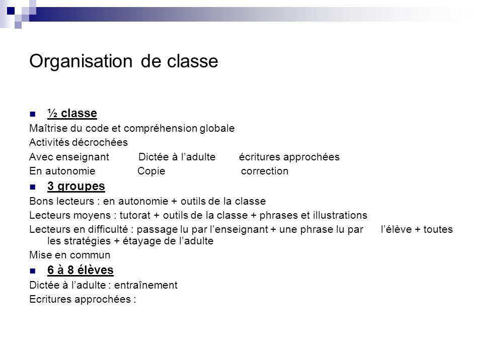 Organisation de classe