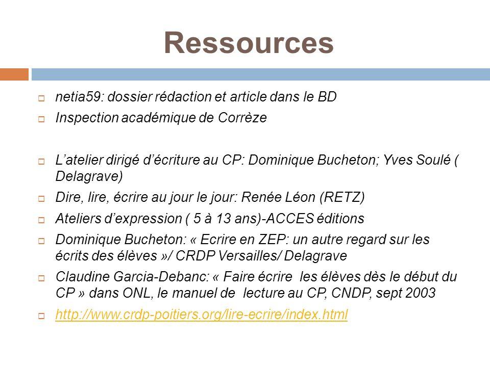Ressources netia59: dossier rédaction et article dans le BD