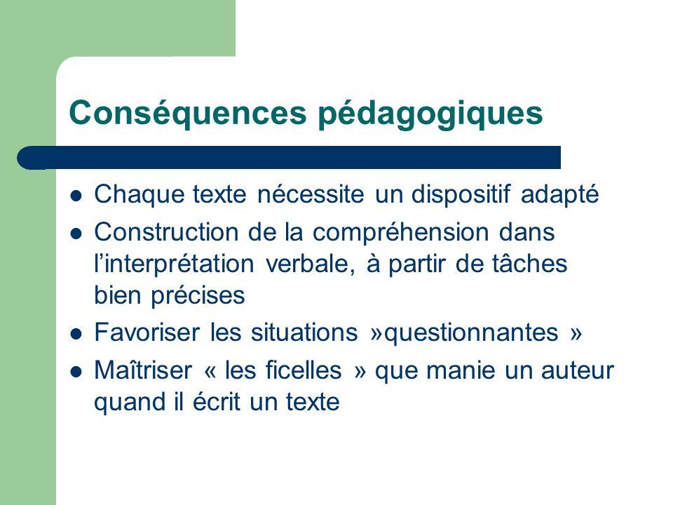 Conséquences pédagogiques