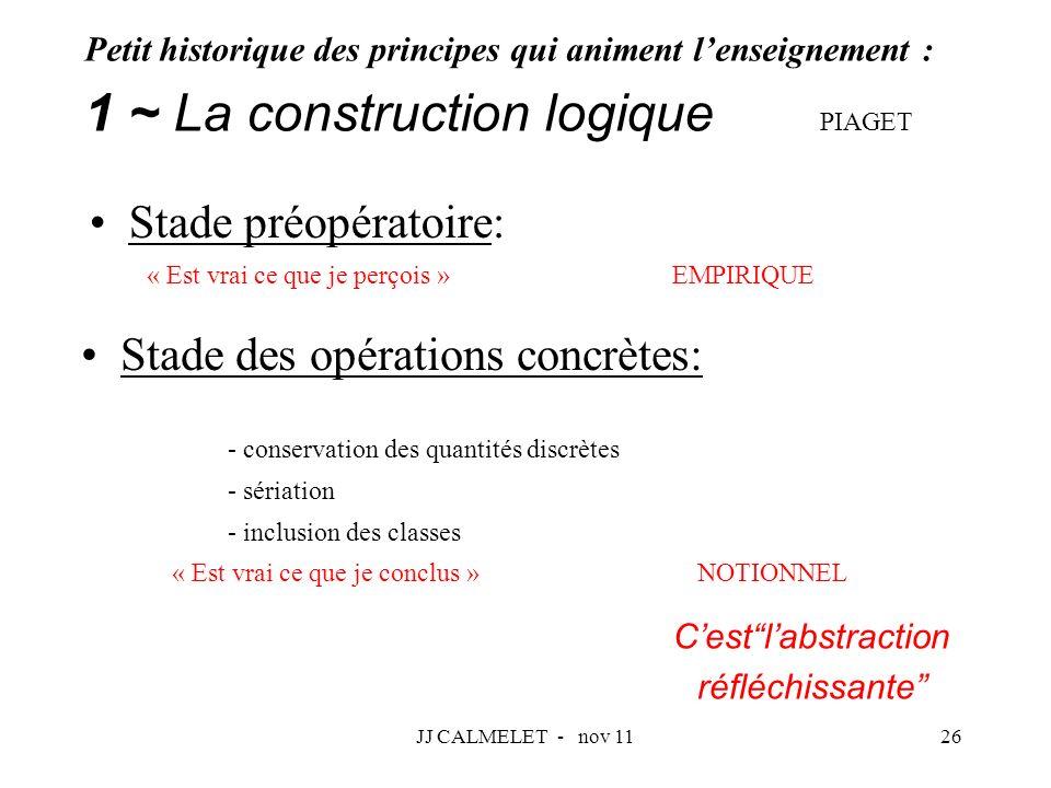 1 ~ La construction logique PIAGET