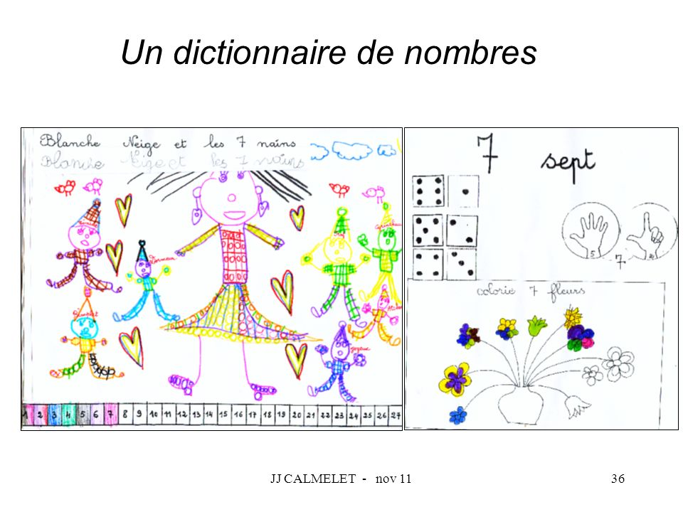 Un dictionnaire de nombres