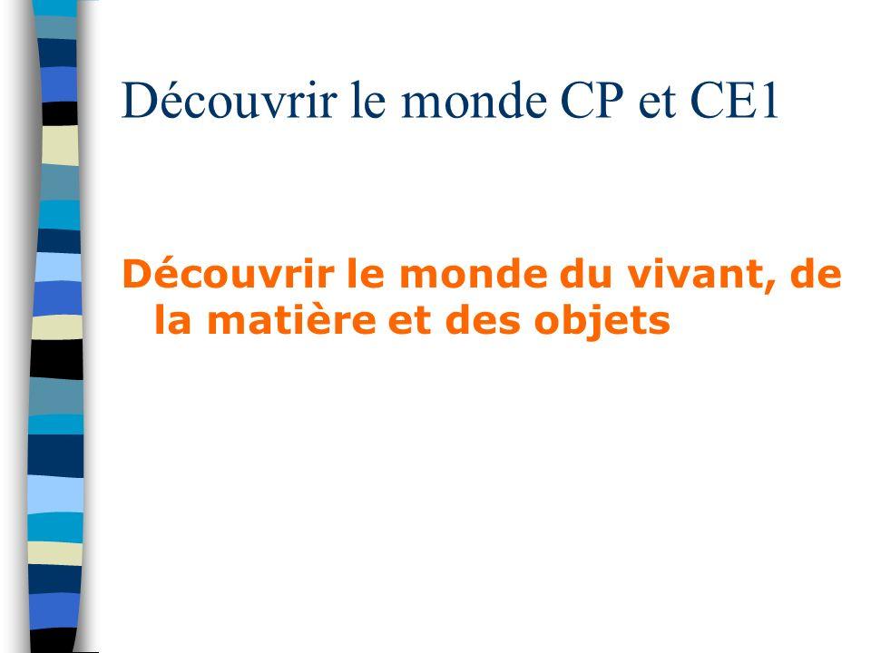 Découvrir le monde CP et CE1