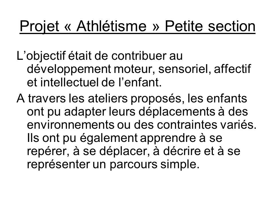 Projet « Athlétisme » Petite section